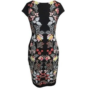 Petite & Missy Cap Sleeve Printed Sheath Dress
